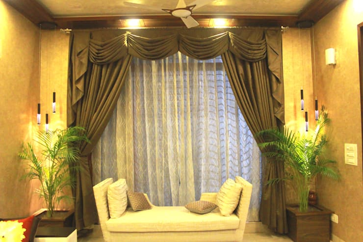 The Living room window:  Living room by Ideagully Products Innovations Private Limited
