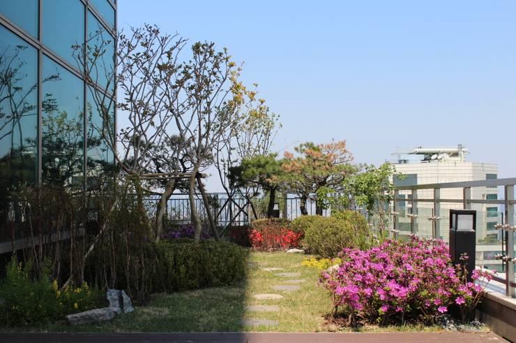 옥상정원_타워팰리스 펜트하우스 옥상 정원 프로젝트: (주)더숲의  정원