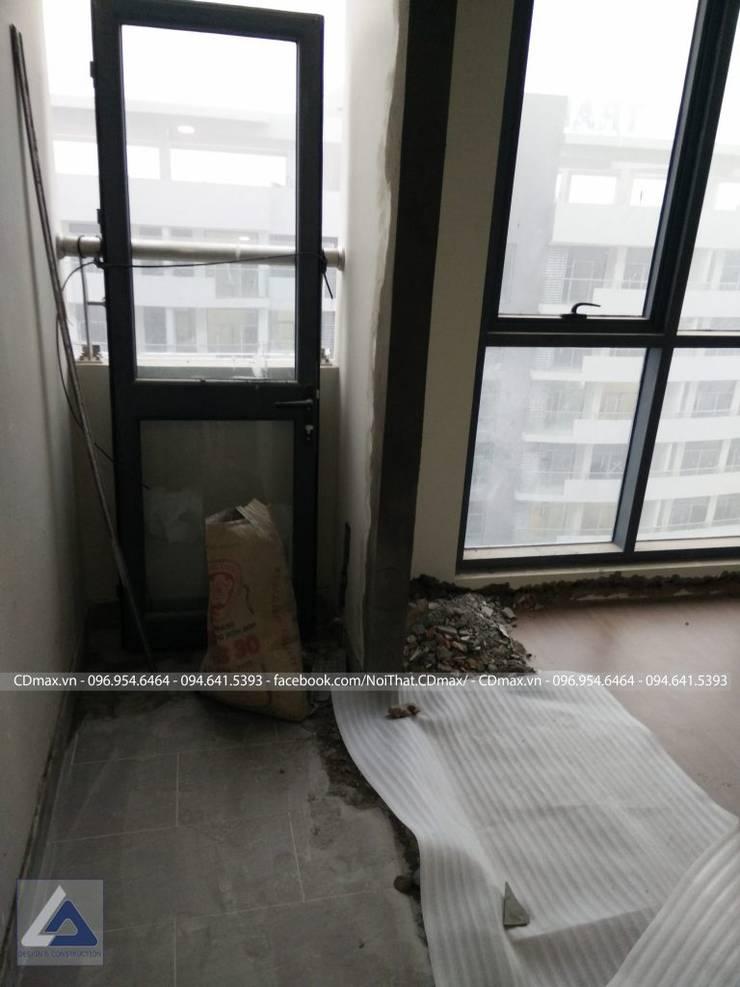 Thiết Kế Cải Tạo Căn Hộ 2 Phòng Ngủ – Tràng An Complex:  Hành lang by Thiết Kế Nội Thất CDmax
