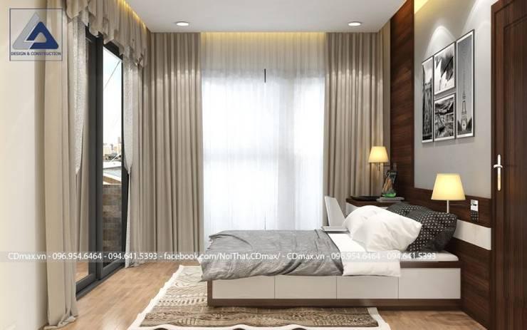 Thiết Kế Cải Tạo Căn Hộ 2 Phòng Ngủ – Tràng An Complex:  Phòng ngủ by Thiết Kế Nội Thất CDmax