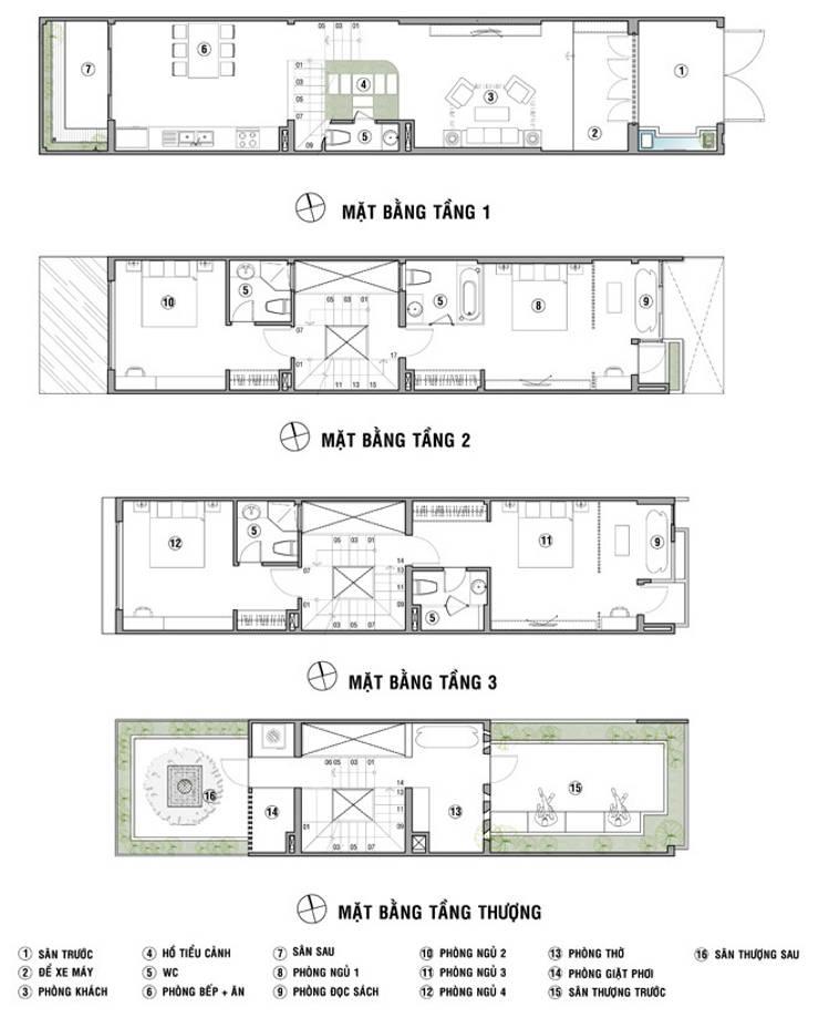 Bài trí công năng của ngôi nhà xinh đẹp như sau::  Nhà by Công ty TNHH Xây Dựng TM – DV Song Phát
