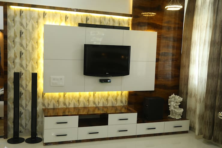 tv unit:  Living room by Alag Interior,Modern