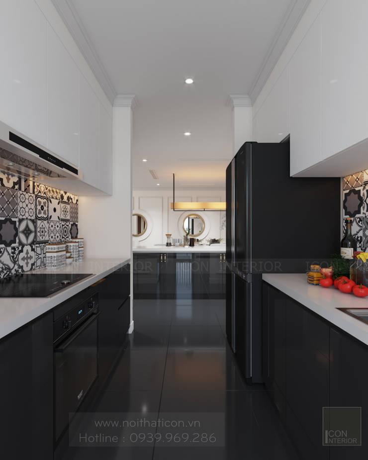 Thiết kế nội thất Vinhomes Central Park – Phong cách Đông Dương:  Nhà bếp by ICON INTERIOR