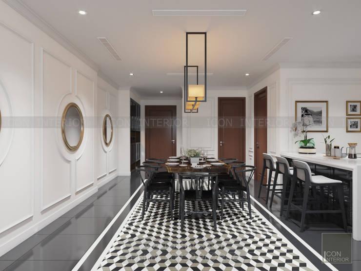 Thiết kế nội thất Vinhomes Central Park – Phong cách Đông Dương:  Phòng ăn by ICON INTERIOR
