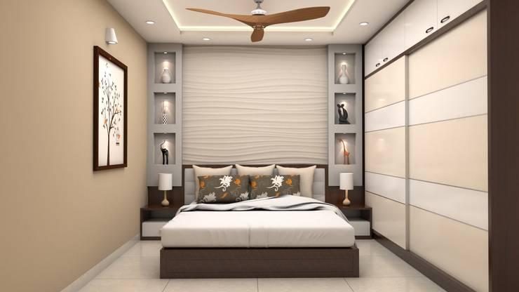 Kinthali Manoj:  Bedroom by ARK Architects & Interior Designers
