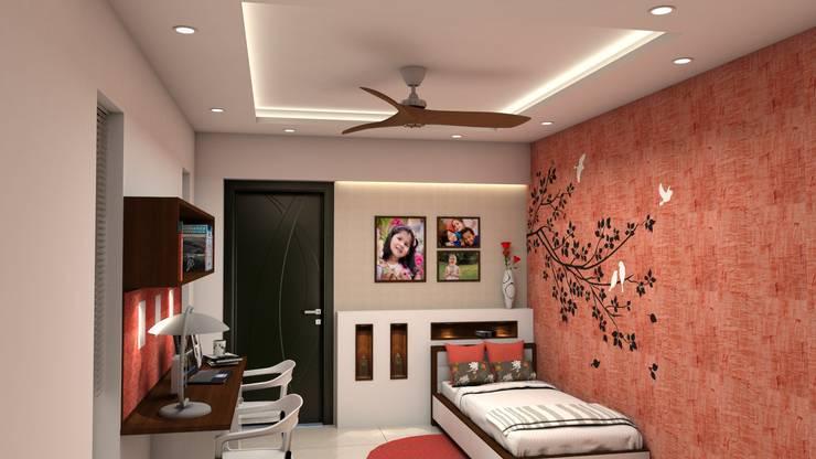 Kinthali Manoj:  Girls Bedroom by ARK Architects & Interior Designers