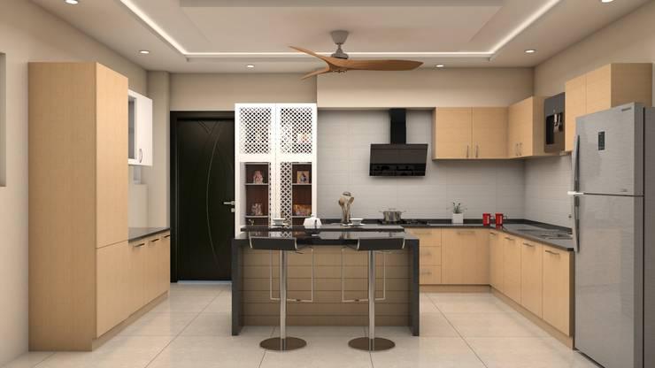 Kinthali Manoj:  Kitchen by ARK Architects & Interior Designers