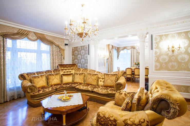 Гостиная в классическом стиле в ЖК Триумф Палас Гостиная в классическом стиле от Технологии дизайна Классический