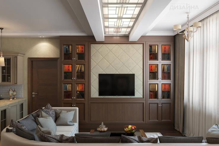 Гостиная в классическом стиле в ЖК Континенталь Гостиная в классическом стиле от Технологии дизайна Классический