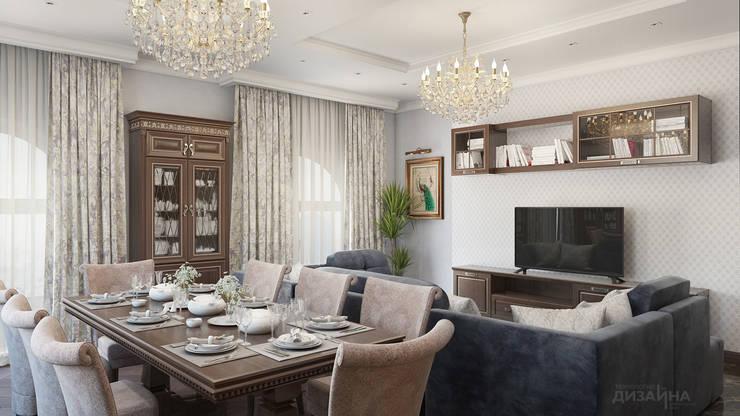 Гостиная в классическом стиле в ЖК Алые Паруса Гостиная в классическом стиле от Технологии дизайна Классический