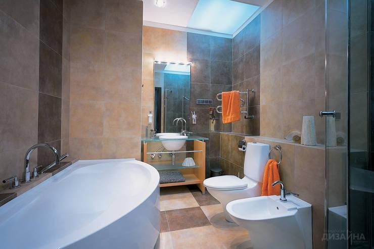 Ванная в современном стиле на Можайском шоссе: Ванные комнаты в . Автор – Технологии дизайна, Модерн
