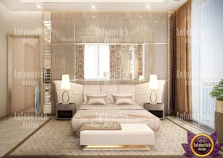 ​Home design styles of Katrina Antonovich:  Bedroom by Luxury Antonovich Design, Modern