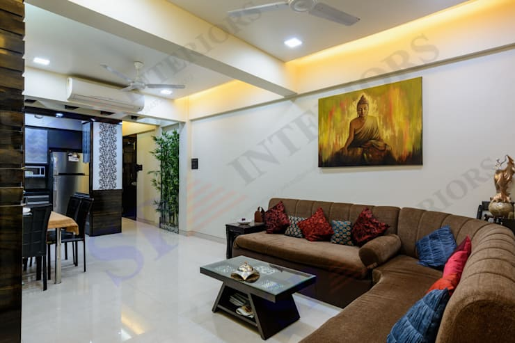 VarunJhaveri: modern Living room by SP INTERIORS