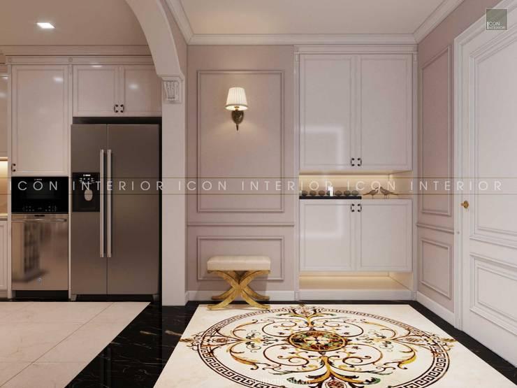 Thiết kế nội thất phong cách TÂN CỔ ĐIỂN cùng căn hộ Vinhomes Central Park:  Cửa ra vào by ICON INTERIOR