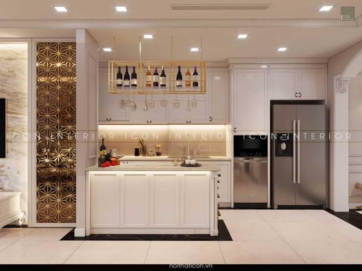 Thiết kế nội thất phong cách TÂN CỔ ĐIỂN cùng căn hộ Vinhomes Central Park:  Nhà bếp by ICON INTERIOR