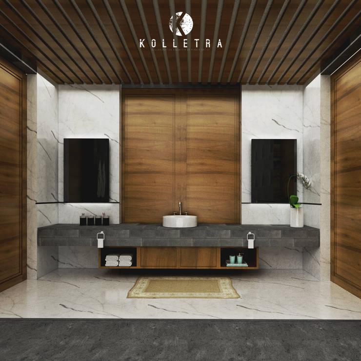 Interior Kamar Mandi Villa Sulung:   by Kolletra Visual Studio