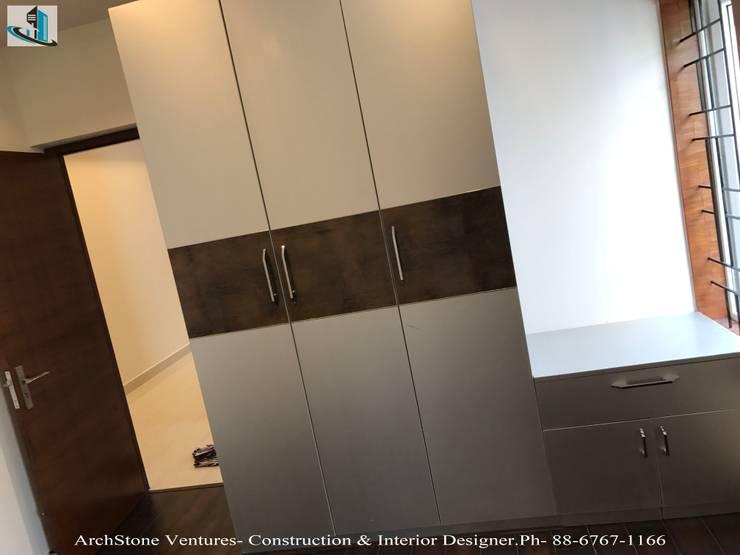 Mr Vodur Reddy's Villa: classic  by Archstone Ventures,Classic Engineered Wood Transparent