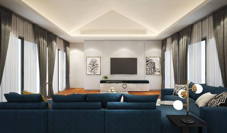 ห้องมัลติมีเดีย:  ตกแต่งภายใน by Luxxri Design