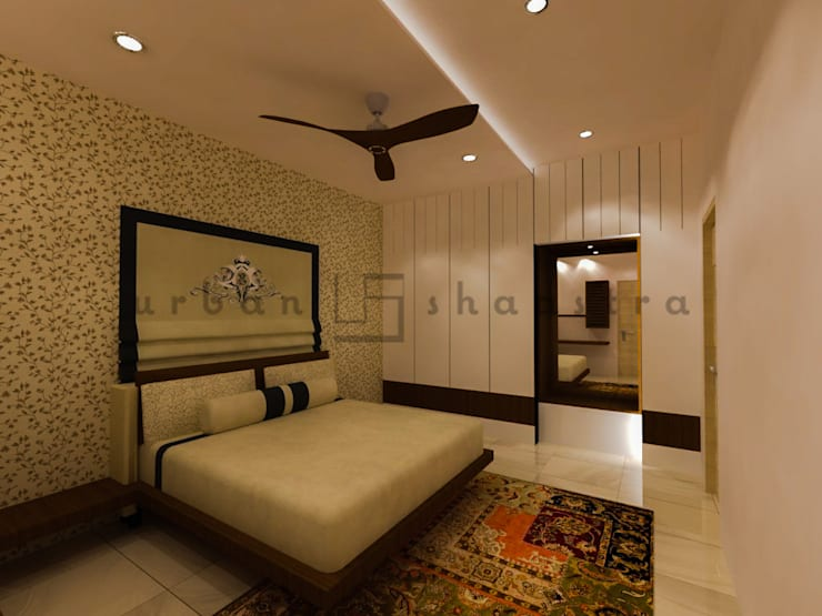 The Master Bedroom:  Bedroom by Urban Shaastra ,