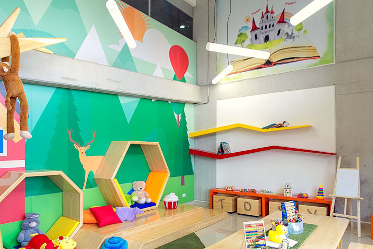 Zona Infantil Salas modernas de Maria Mentira Studio Moderno Madera Acabado en madera