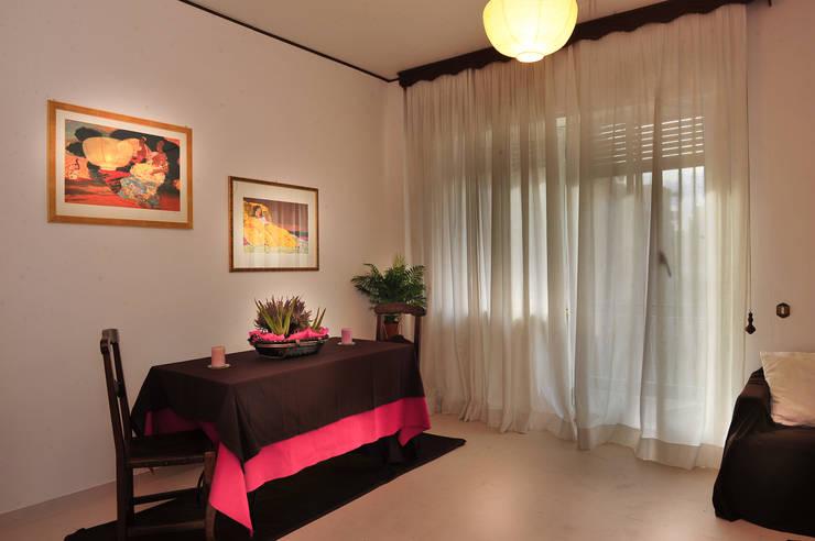 Homestaging sala da pranzo dopo:  in stile  di Antonella Petrangeli