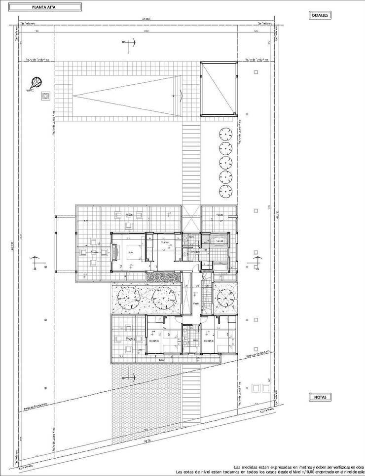 Planta Alta: Casas unifamiliares de estilo  por I.S. ARQUITECTURA