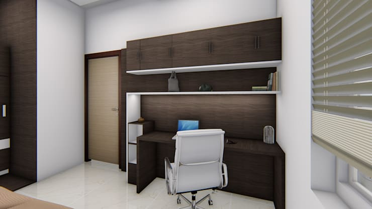 Mali Residence @ Islampur (Maharashtra): classic Study/office by Cfolios Design And Construction Solutions Pvt Ltd