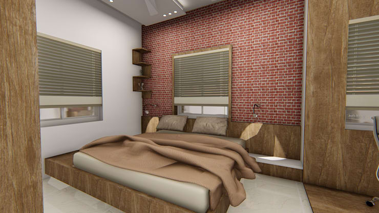 Mali Residence @ Islampur (Maharashtra): classic Bedroom by Cfolios Design And Construction Solutions Pvt Ltd