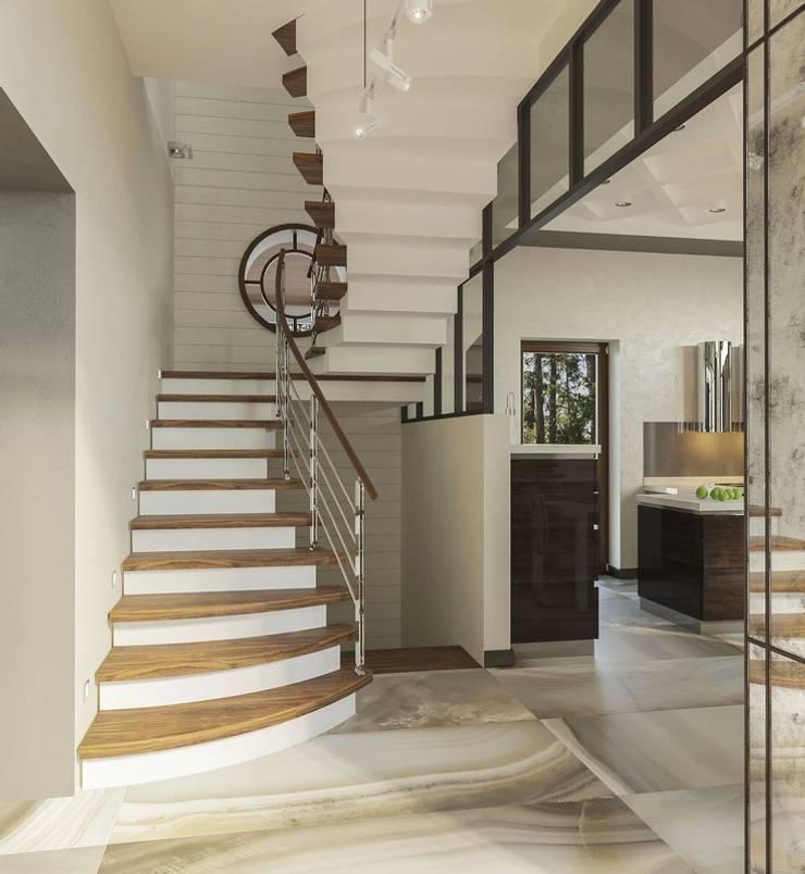 Escaleras de estilo  de Вира-АртСтрой, Minimalista