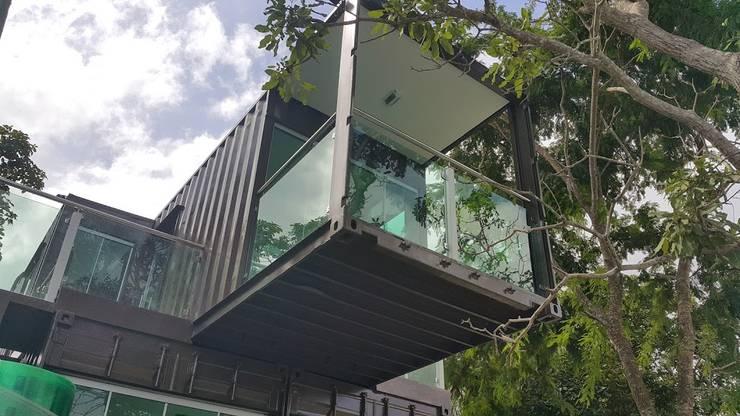 Casa em Contêiner Marítimo-Maranhão: Casas  por Plaster Construções Inteligentes