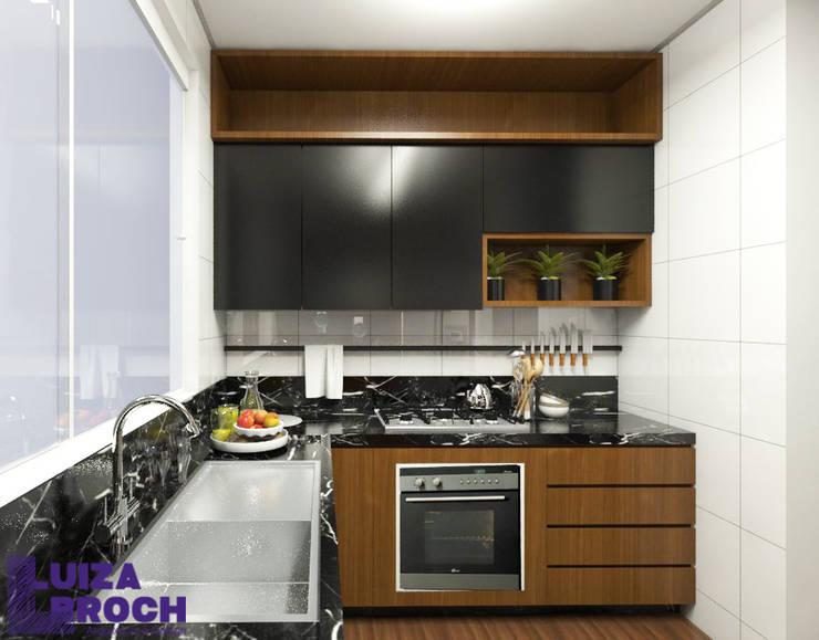 Cozinha 03: Cozinhas embutidas  por Luiza Broch Arquitetura e Design