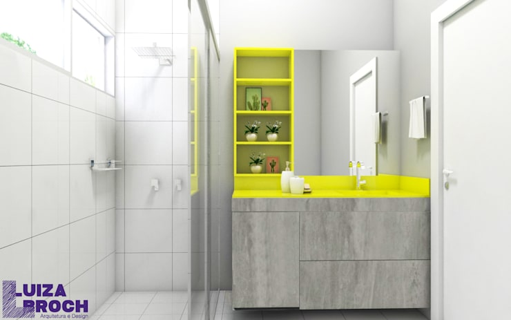 Baños de estilo  por Luiza Broch Arquitetura e Design