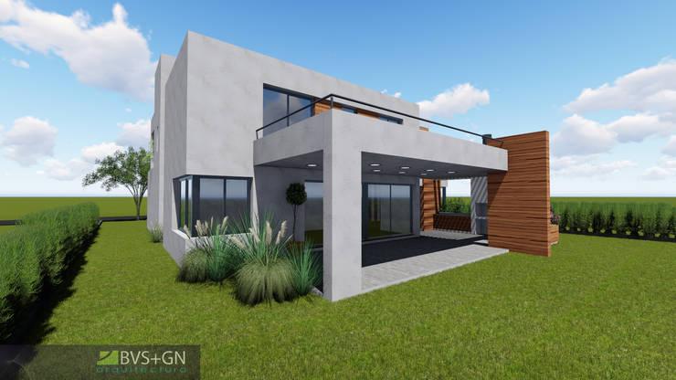VIVIENDA O: Casas unifamiliares de estilo  por BVS+GN ARQUITECTURA,