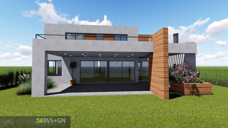 VIVIENDA O: Casas de estilo  por BVS+GN ARQUITECTURA,
