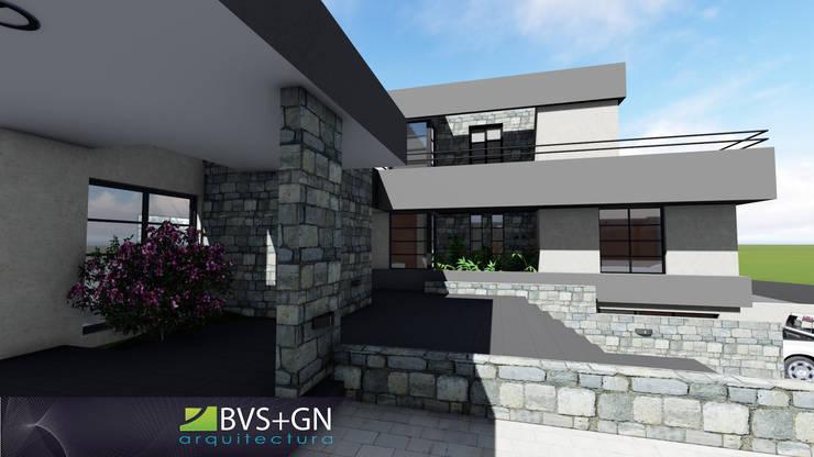 Maison individuelle de style  par BVS+GN ARQUITECTURA, Moderne Pierre