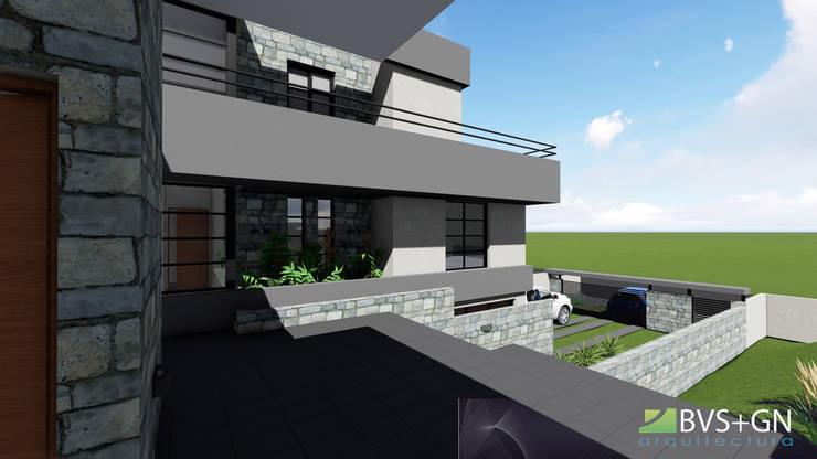 Дома на одну семью в . Автор – BVS+GN ARQUITECTURA, Модерн Камень