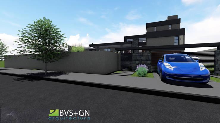 Casas de estilo  por BVS+GN ARQUITECTURA, Moderno Piedra