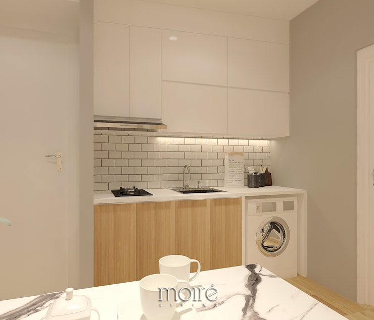SMALL NOT TO SMALL:  Dapur built in by Moire Living