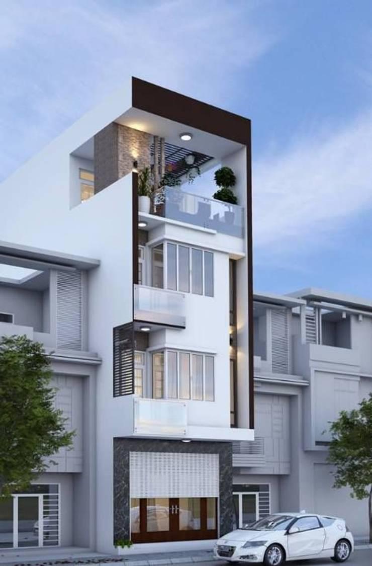 Mẫu nhà ống lệch tầng tầng đẹp – 07:  Nhà gia đình by Công ty TNHH Thiết Kế Xây Dựng Song Phát