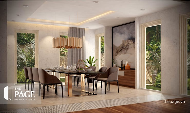 VILLA VŨNG TÀU:  Phòng ăn by The Page Interior & Design