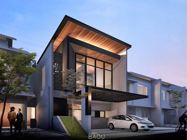 Eksterior :  Rumah tinggal  by Atelier BAOU+