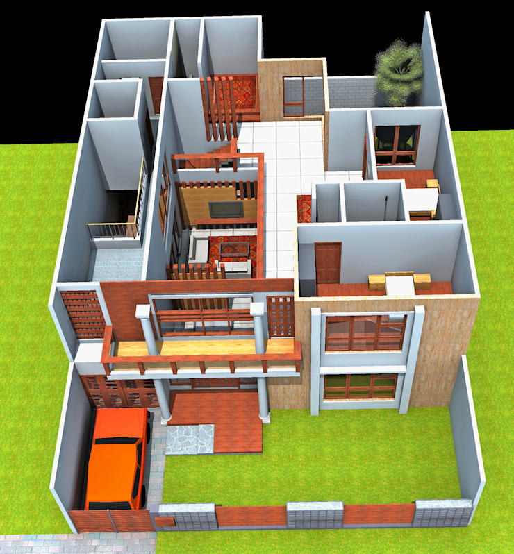 Denah lantai 2:   by SMarchdesign12
