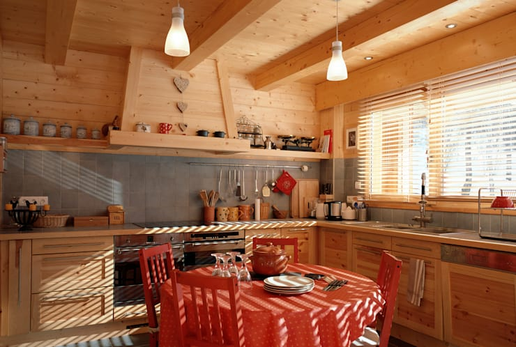 Cocinas de estilo  por VillaBio
