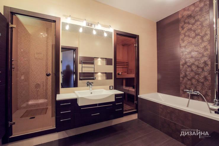 Ванная в стиле ар деко на пр. Маршала Жукова: Ванные комнаты в . Автор – Технологии дизайна,