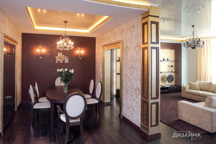 Столовая в стиле ар деко на пр. Маршала Жукова: Столовые комнаты в . Автор – Технологии дизайна,