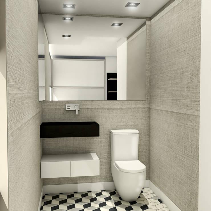 Remodelación Apartamento Montoya: Baños de estilo moderno por ProEscala- Arquitectos