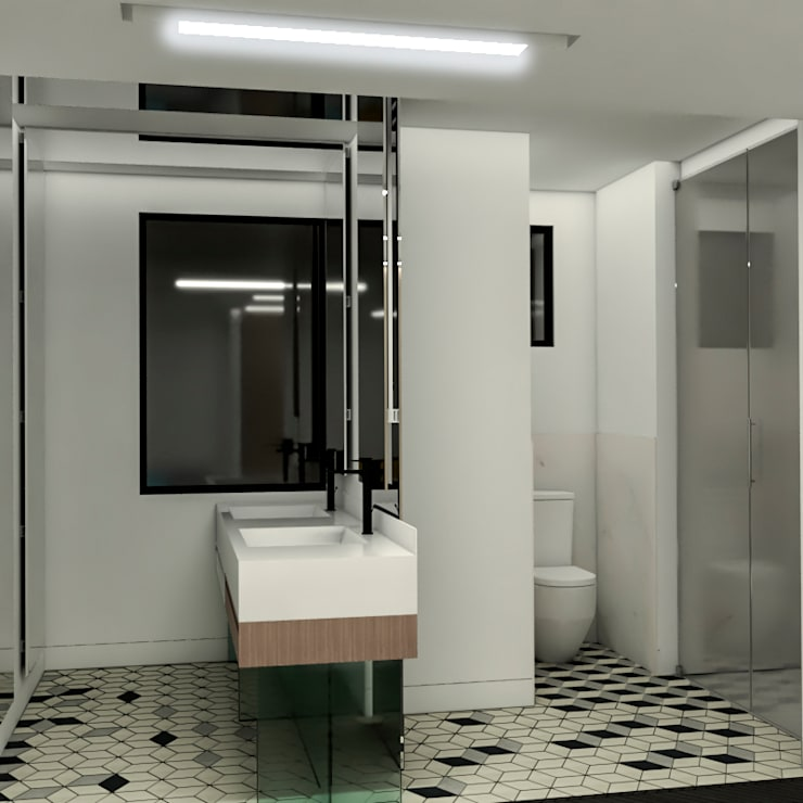 Salle de bains de style  par ProEscala- Arquitectos