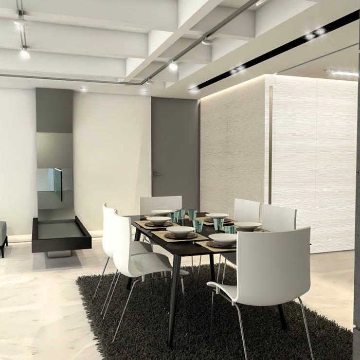 Remodelación Apartamento Montoya: Comedores de estilo moderno por ProEscala- Arquitectos