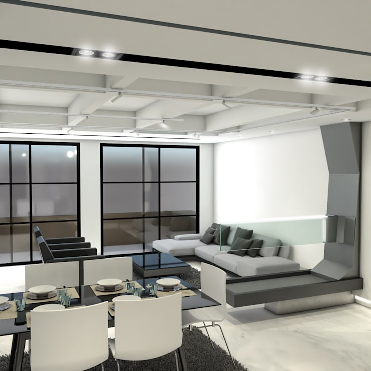 Salon de style  par ProEscala- Arquitectos