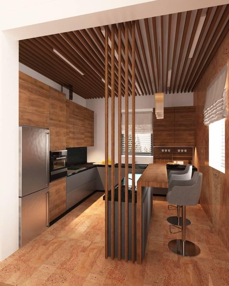Частный дом г. Питер: Кухни в . Автор – owndesign, Лофт